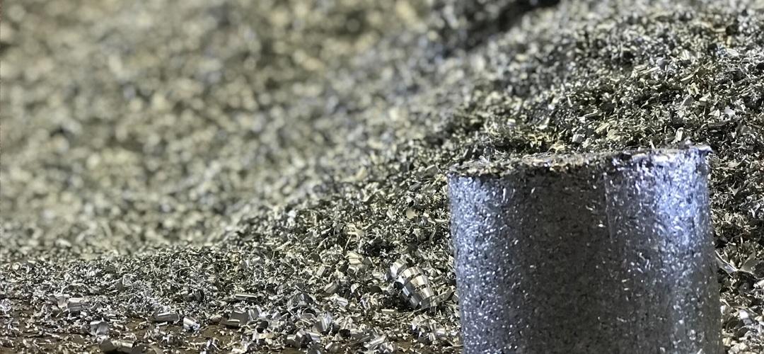 Shredded scrap aluminum