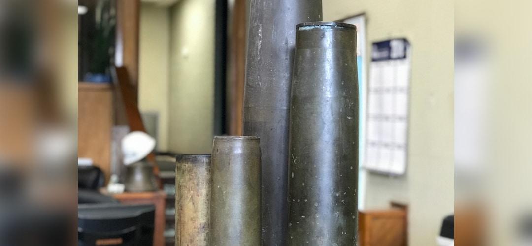 Brass artillery shells - miltary scrap